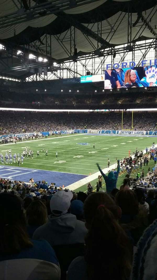 Ford Field, section: 141, row: 33, seat: 9