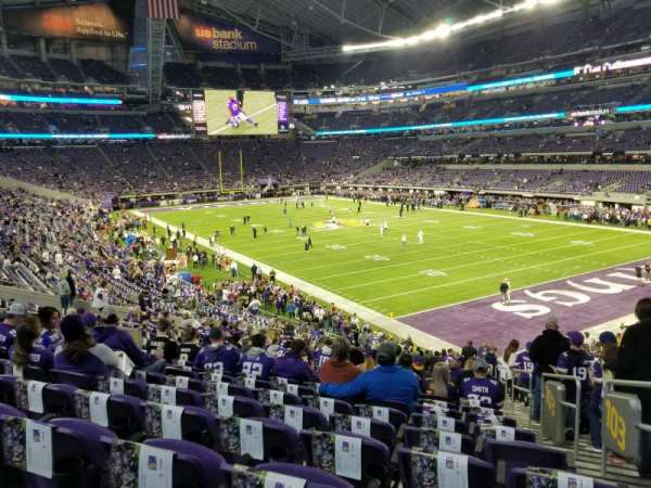 U.S. Bank Stadium, section: 103, row: 28, seat: 1