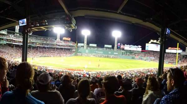 Fenway Park, section: Grandstand 14, row: Row 9, seat: Seat 17