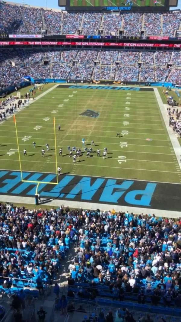 Bank of America Stadium, section: 527, row: WC, seat: 7
