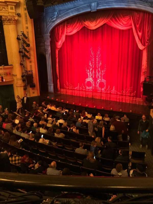 Hudson Theatre, section: Dress Circle, row: A, seat: 8