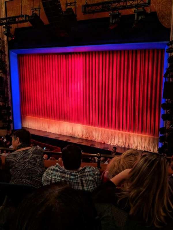 Longacre Theatre, section: rear mezz right, row: D, seat: 15
