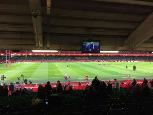Principality Stadium, section: L11, row: 29, seat: 6
