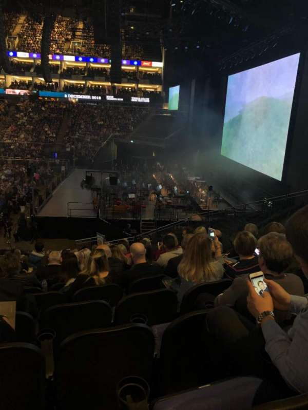 The O2 Arena, section: 113, row: W, seat: 400