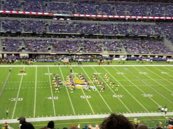 U.S. Bank Stadium, section: C4, row: 10, seat: 5