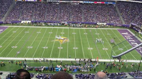 U.S. Bank Stadium, section: 341, row: 3, seat: 2