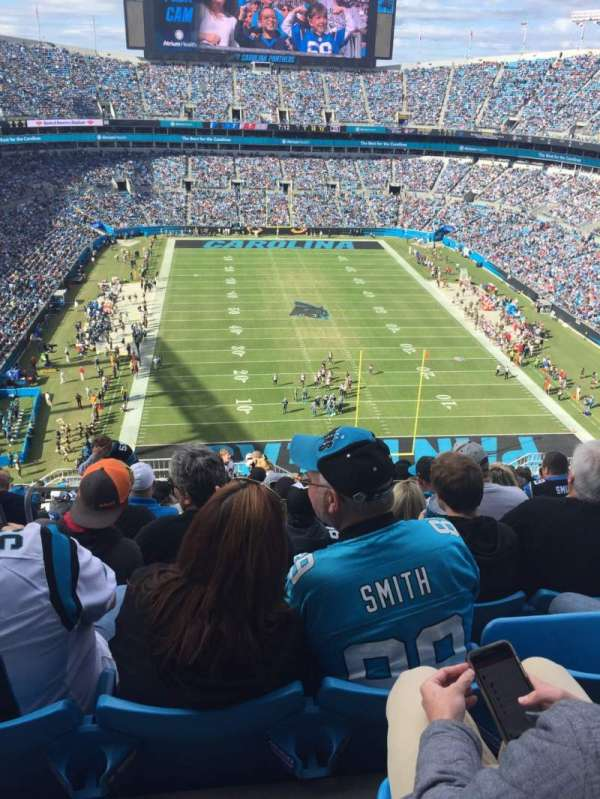Bank of America Stadium, section: 529, row: 19, seat: 23