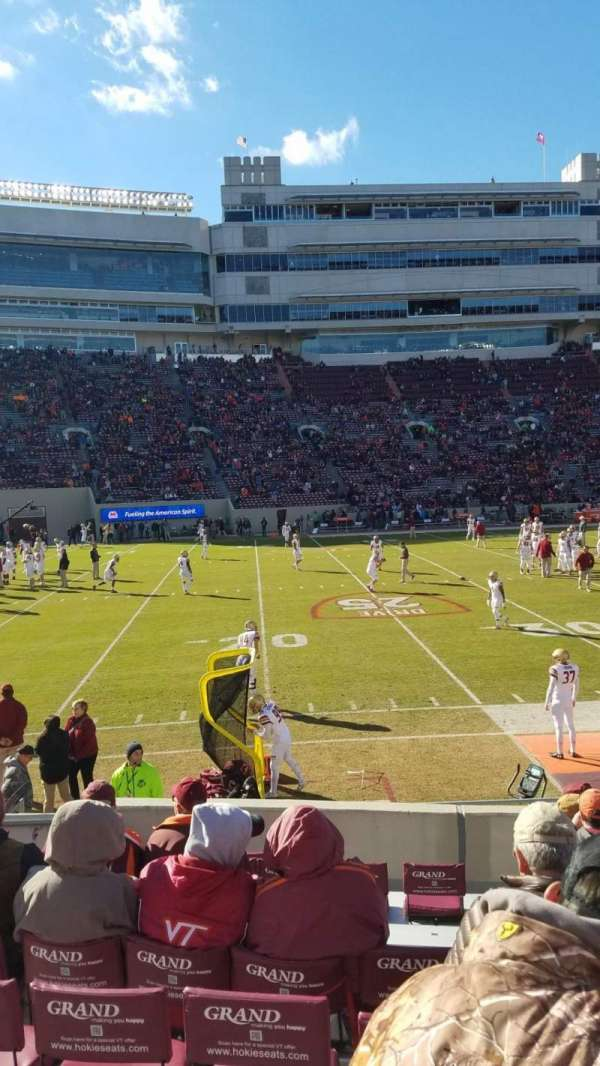 Lane Stadium, section: 15, row: N, seat: 10