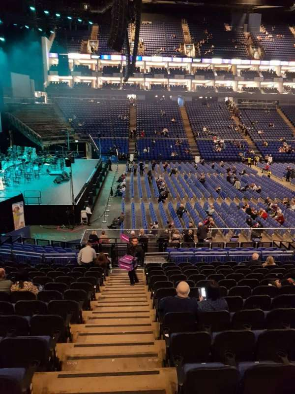 The O2 Arena, section: 101, row: Q, seat: 15