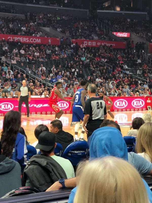 Staples Center, section: 112, row: 4, seat: 18