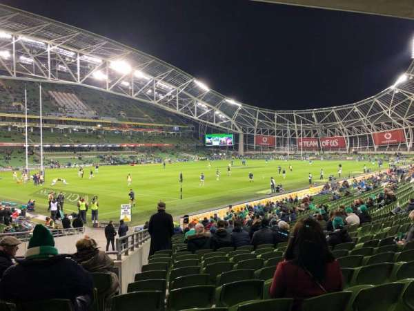 Aviva Stadium, section: 109, row: Bb, seat: 30