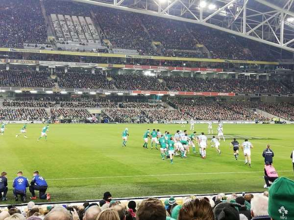 Aviva Stadium, section: 106, row: T, seat: 22