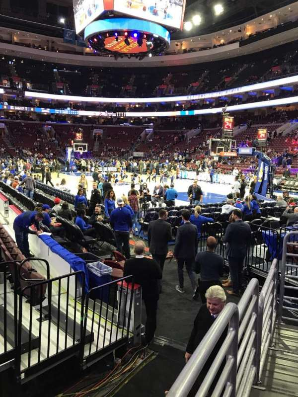 Wells Fargo Center, section: 116, row: 5, seat: 9