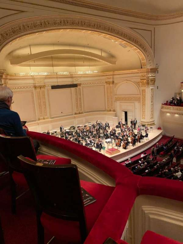 Carnegie Hall, section: Box 48, row: 2, seat: 6