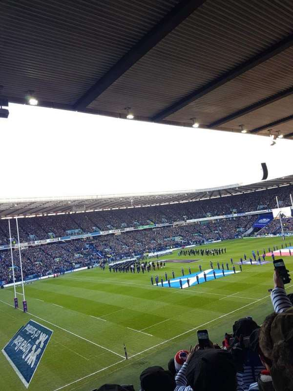 Murrayfield Stadium, section: East 22, row: G, seat: 1