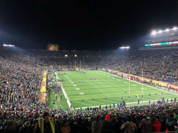 Notre Dame Stadium, section: 121, row: 7, seat: 13
