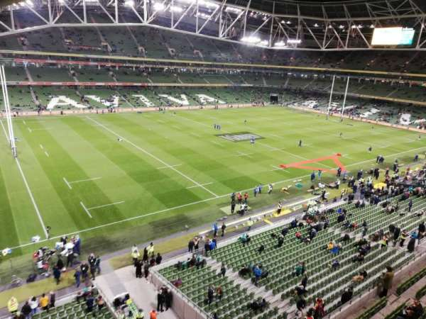 Aviva Stadium, section: 529, row: A
