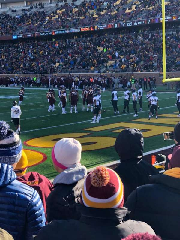 TCF Bank Stadium, section: 151, row: 5, seat: 13