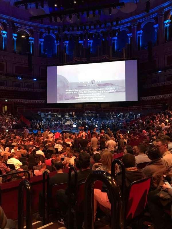 Royal Albert Hall, section: L, row: 5, seat: 85