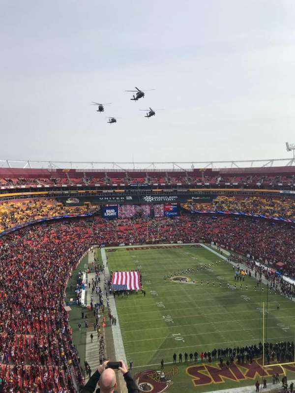 FedEx Field, section: 416, row: 6, seat: 8