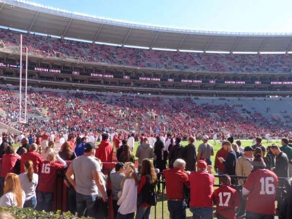 Bryant-Denny Stadium, section: M, row: 2, seat: 9-12