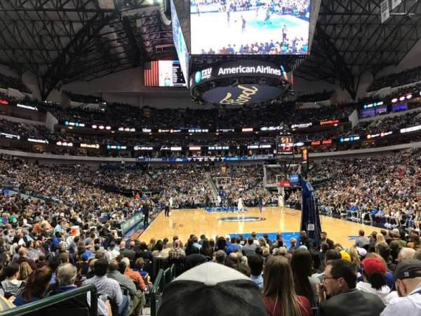 American Airlines Center, section: 113, row: MM, seat: 8