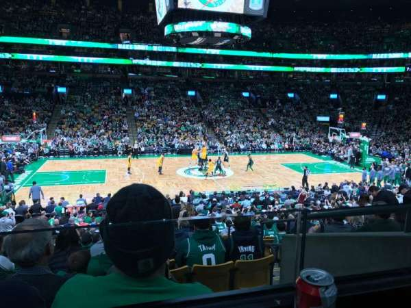 TD Garden, section: Club 113, row: AA, seat: 1