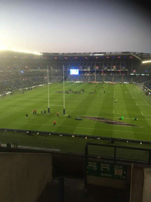 Murrayfield Stadium, section: S10, row: S, seat: 14