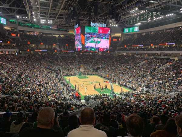 Fiserv Forum, section: 113, row: 31, seat: 19