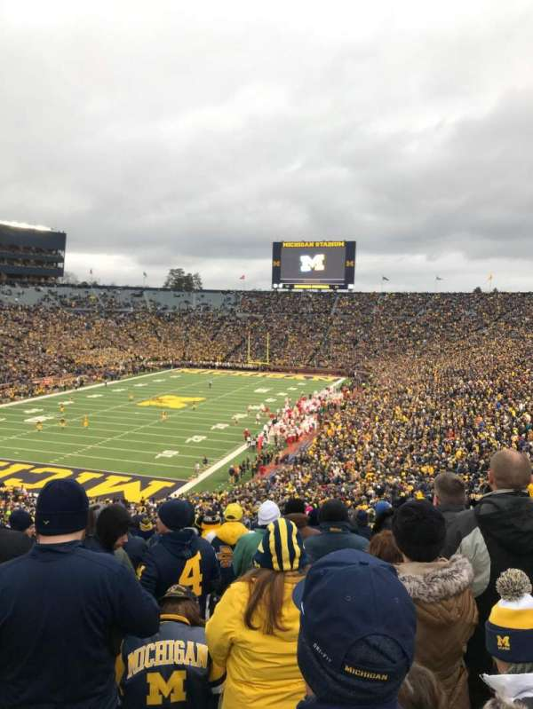 Michigan Stadium, section: 9, row: 77, seat: 30
