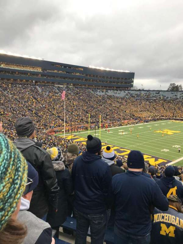 Michigan Stadium, section: 9, row: 77, seat: 29