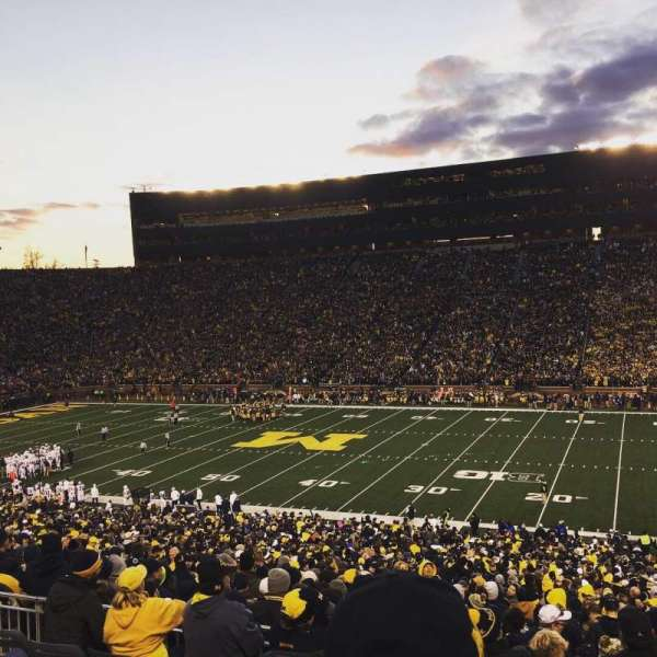 Michigan Stadium, section: 42, row: 61, seat: 4