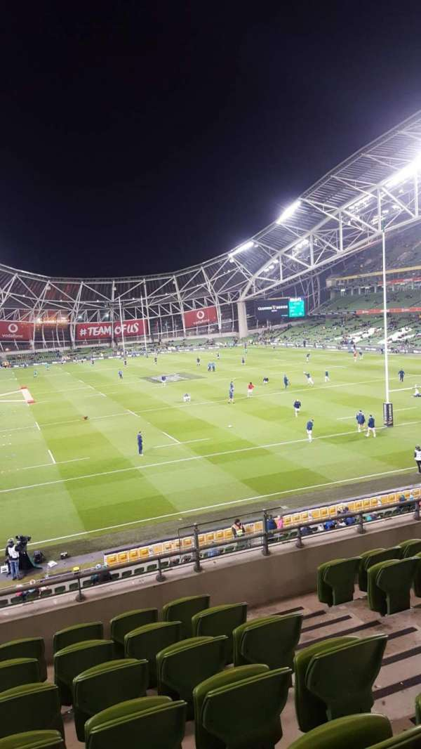 Aviva Stadium, section: Block 318, row: G, seat: 17