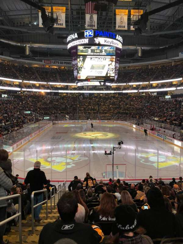 PPG Paints Arena, section: 107, row: S, seat: 14