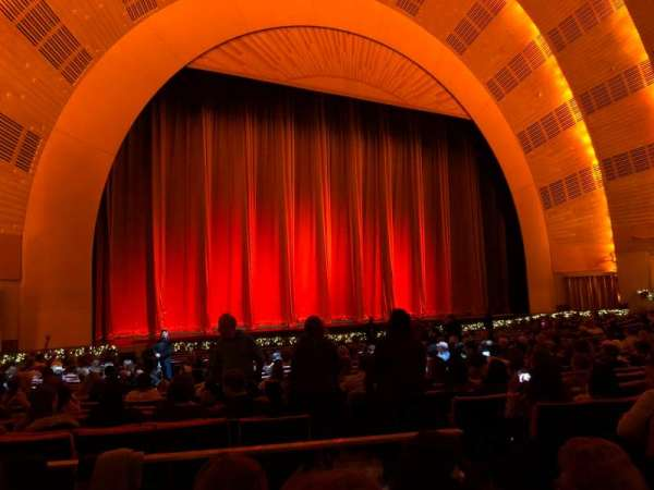 Radio City Music Hall, section: Orchestra 6, row: YY, seat: 604