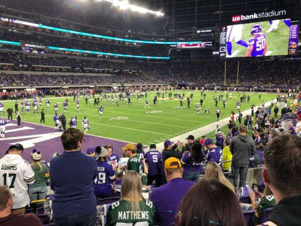 U.S. Bank Stadium, section: 114, row: 9, seat: 13