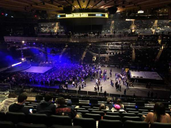 Madison Square Garden, section: 225, row: 8, seat: 8