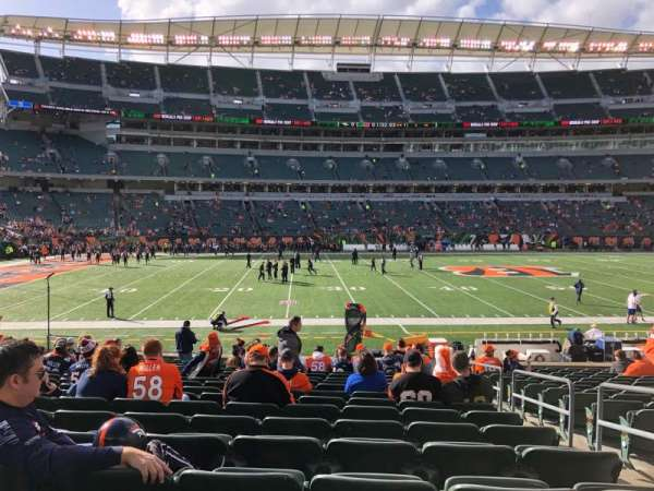 Paul Brown Stadium, section: 141, row: 18, seat: 3