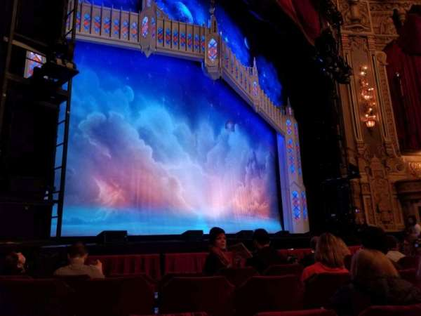 Oriental Theatre, section: FL, row: F, seat: 15