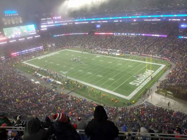 Gillette Stadium, section: 302, row: 24, seat: 12