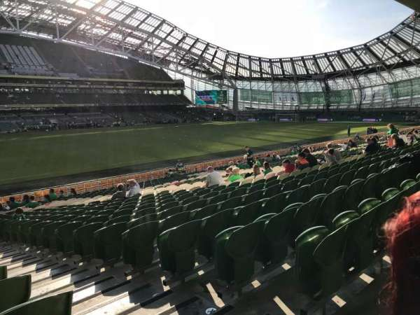 Aviva Stadium, section: 107, row: AA, seat: 16