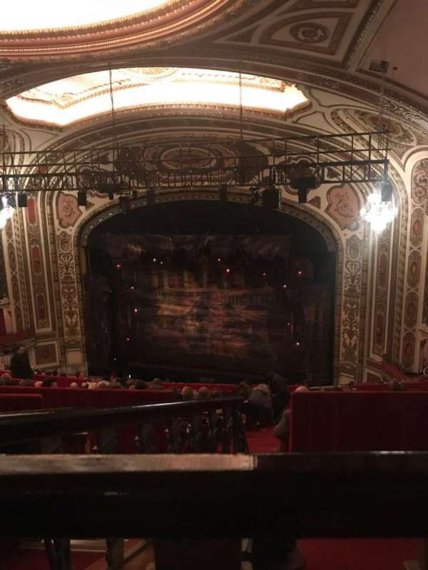 Cadillac Palace Theater, section: Balcony R, row: O, seat: 4