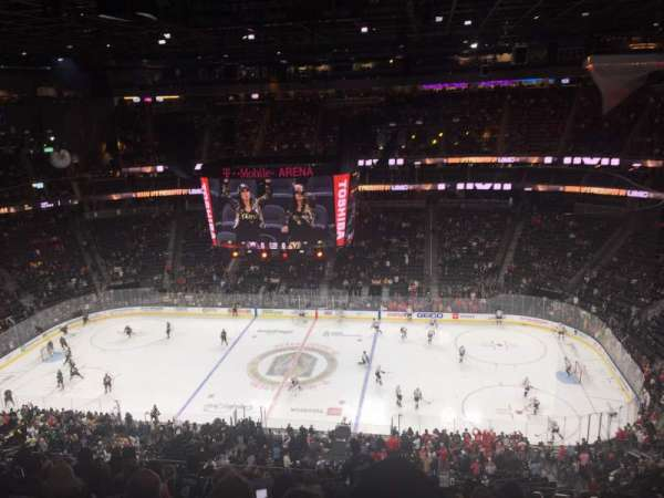 T-Mobile Arena, section: 206, row: q, seat: 16