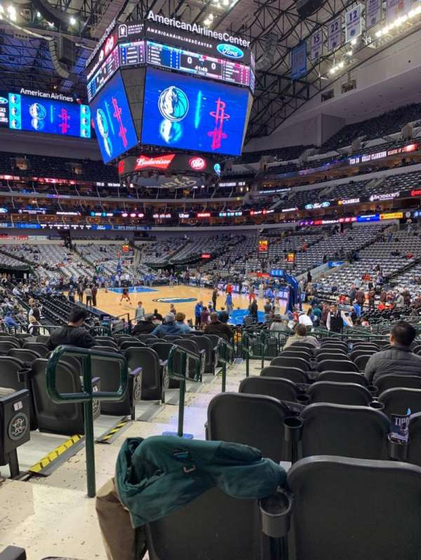 american airlines center section 102 row m seat 13