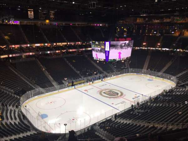 T-Mobile Arena, section: 219, row: K, seat: 4