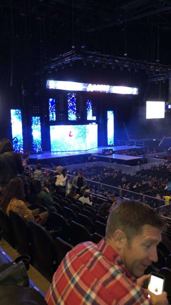 The O2 Arena, section: 102, row: T, seat: 84