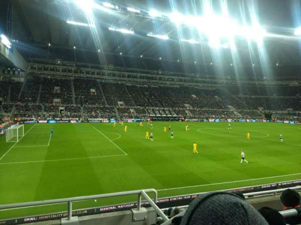 St James' Park, section: Gallowgate East, row: C, seat: 5