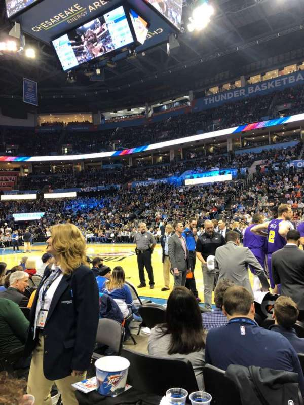 Chesapeake Energy Arena, section: 114, row: B, seat: 16
