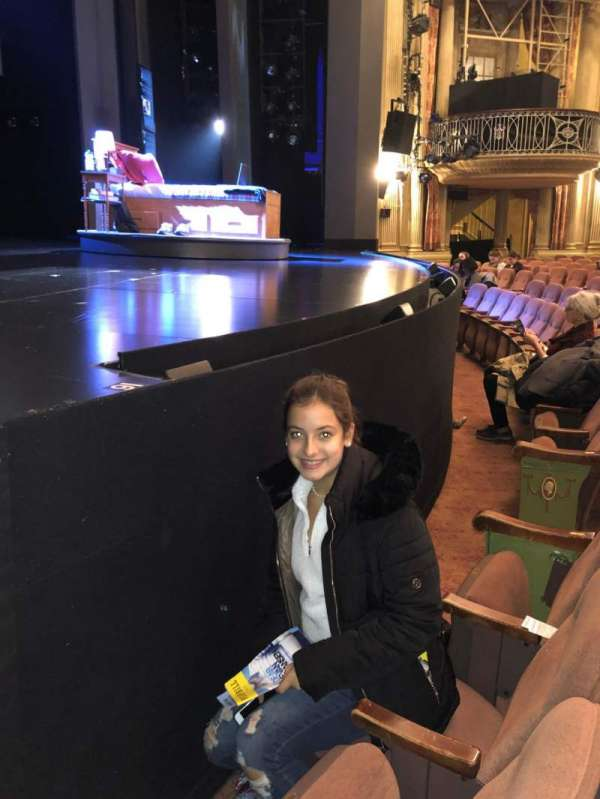 Music Box Theatre, section: orchestra, row: A, seat: 3