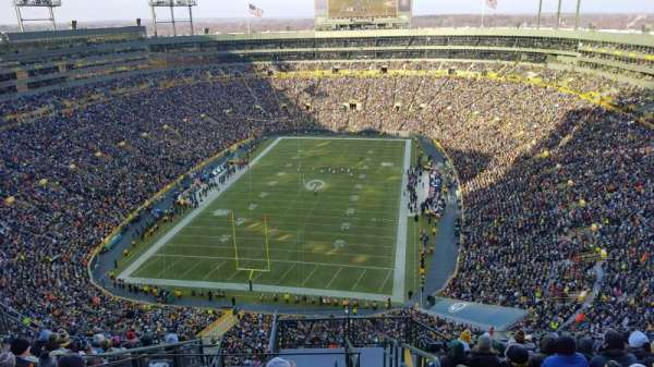 Lambeau Field, section: 747S, row: 13, seat: 1